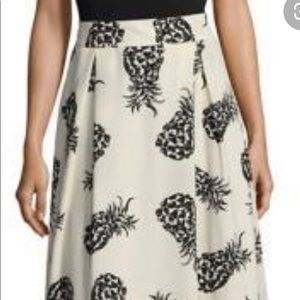 Design Lab Pineapple A Line skirt size S